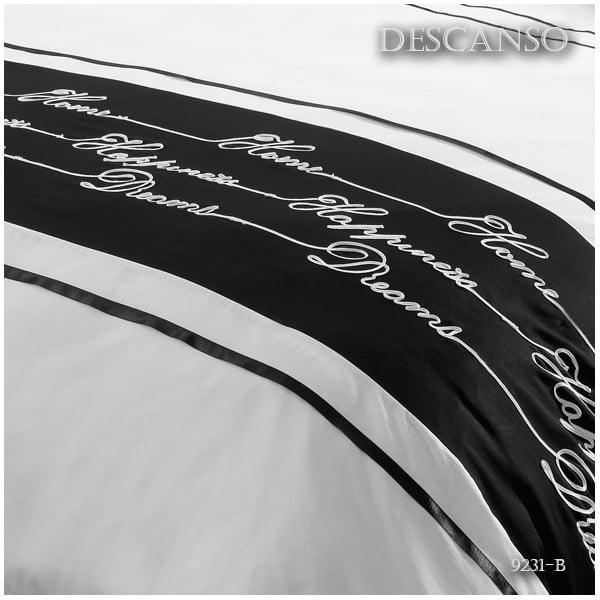 Obliečky Descanso White/Black, 200x200 cm
