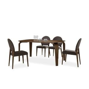 Jedálenský stôl Mezzo, tmavý orech