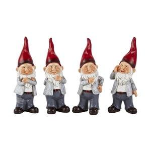 Sada 4 dekoratívnych vianočných sošiek KJ Collection Dwarfy, 20 cm