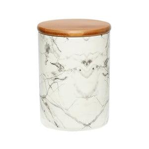 Biela porcelánová dóza Hübsch Marble, výška 16 cm
