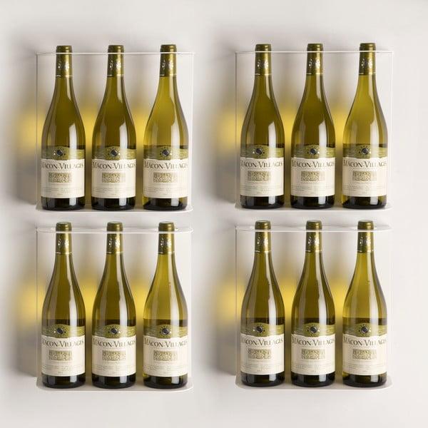 Nástenné police na víno Teewine White
