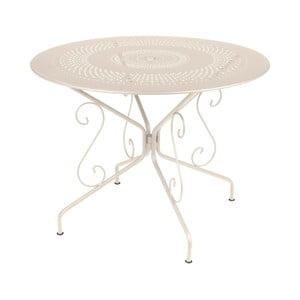 Krémový kovový stôl Fermob Montmartre, Ø96cm
