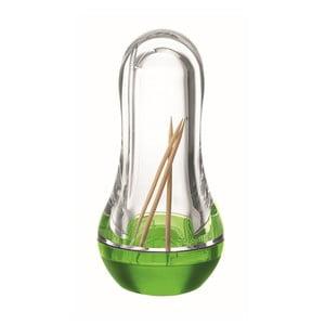 Zelený zásobník na špáradlá Fratelli Guzzini Feeling