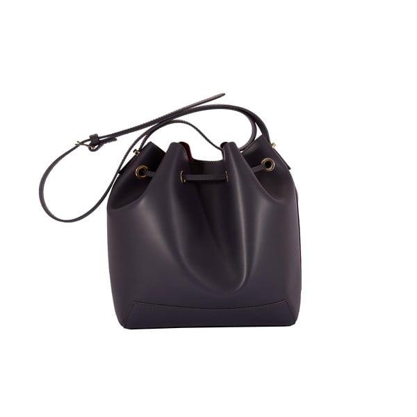Tmavosivá kabelka z pravej kože Andrea Cardone Grey