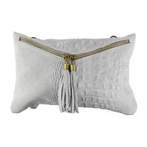 Sivá kožená listová kabelka Chicca Borse Andy
