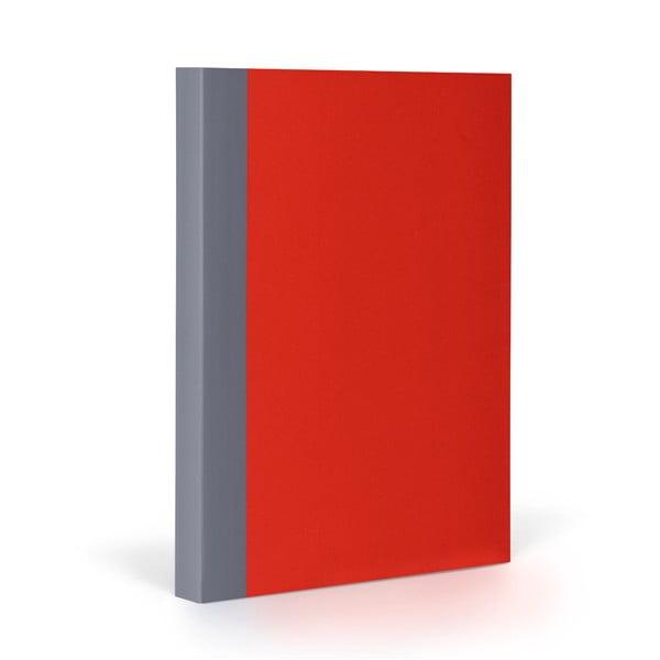 Zápisník FANTASTICPAPER A5 Cherry/Grey, riadkovaný