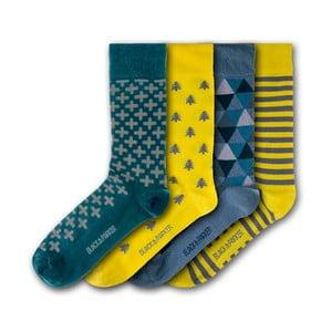 Sada 4 ponožiek Black&Parker London Tresco Abbey, veľkosť 37 – 43