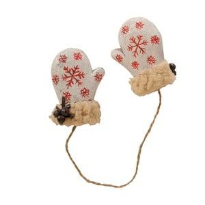 Závesné dekoratívne rukavičky Antic Line Natural