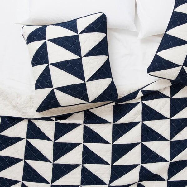 Modro-biela obliečka na vankúš Pyramide Azul, 60 x 60 cm