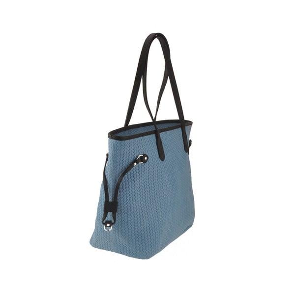 Modrá kožená kabelka Florence Merga