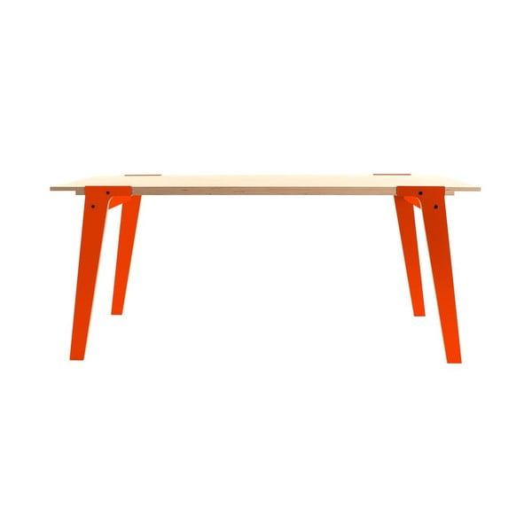 Oranžový jedálenský/pracovný stôl rform Switch, doska 200x90cm