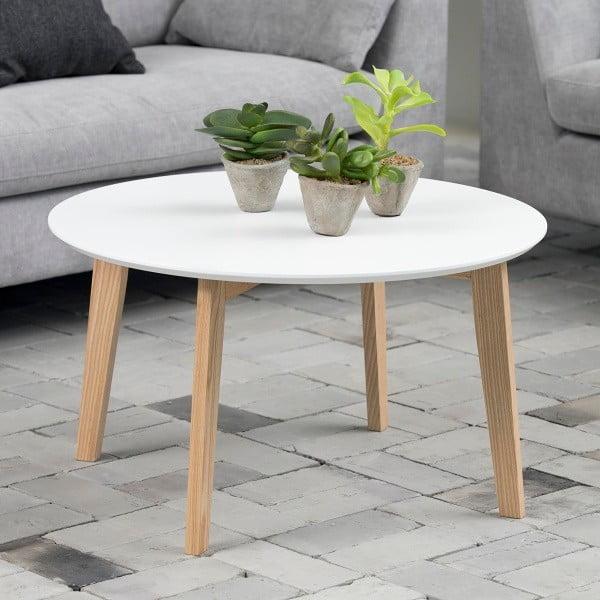 Biely konferenčný stolík Actona Molina, ⌀ 80 cm