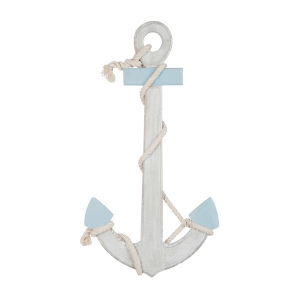 Dekorácia Anchor Blue, 70x37x5 cm