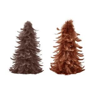 Sada 3 vianočných dekorácií z peria Villa Collection Feathers, výška 25 cm