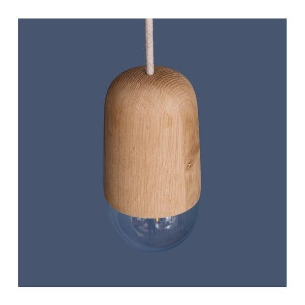 Závesné svietidlo v prírodnom drevenom odtieni HARTÔ Luce