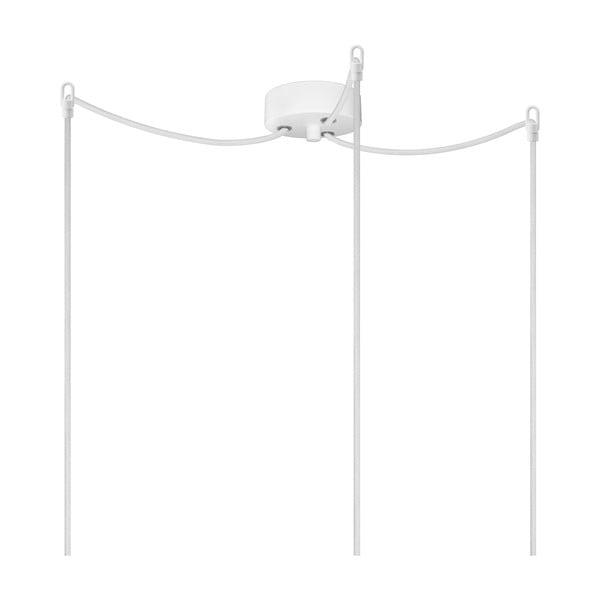Biele závesné svietidlo s 3 káblami Bulb Attack Uno Basic
