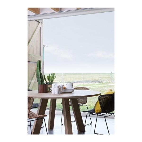 Jedálenský stôl z bieleného dubového dreva WOOOD Rhonda, Ø 150cm