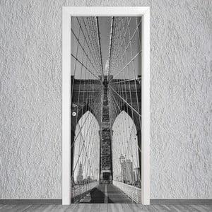 Samolepka na dvere LineArtistica Ponte, 80×215cm