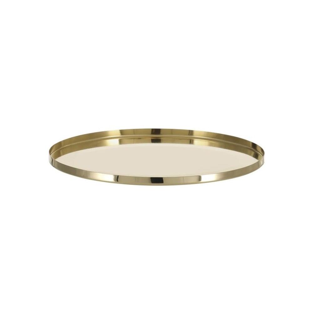 Antikoro servírovací podnos v zlatej farbe A Simple Mess Vilna Brass
