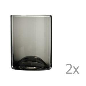 Sada 2 čiernych pohárov Blomus Wave, 300 ml