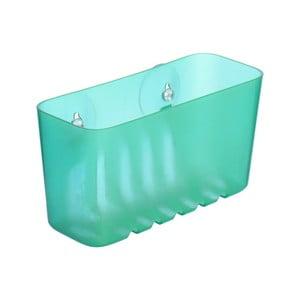 Tyrkysový nástenný kúpeľňový kôšík bez nutnosti vŕtania Ta-Tay Small Storage Basket Standart