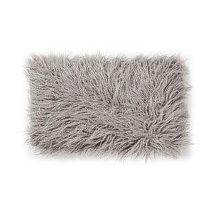 Sivý vankúš z umelej kožušiny La Forma Brock, 30x50cm