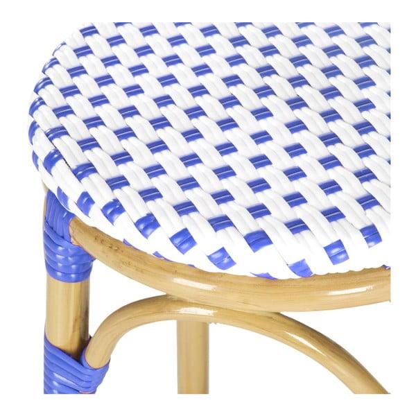 Barová stolička Kiara Blue/White