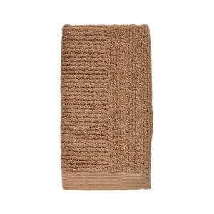 Jantárovohnedý uterák zo 100% bavlny Zone Classic Amber, 50×100 cm