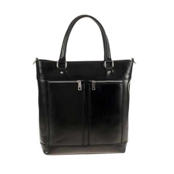 Kožená kabelka Ore Diece Albettone, čierna
