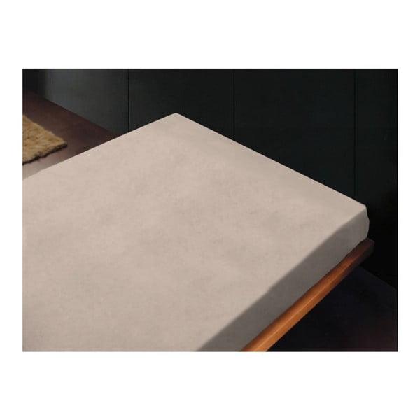 Neelastická posteľná plachta Liso Crema, 180x260 cm