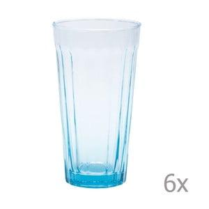Sada 6 long sklenic Lucca Sky, 500 ml