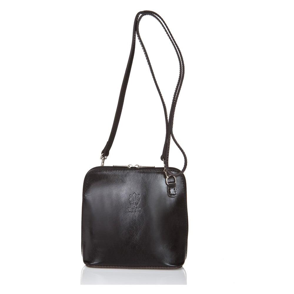 e89a497155e2 Čierna kožená kabelka Giorgio Costa Jacintha