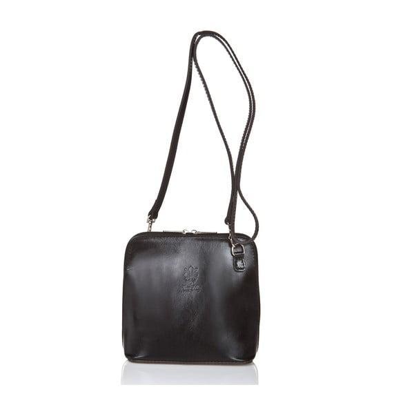 Čierna kožená kabelka Grey Labelz Giorgio Costa Jacinthe