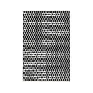 Čierno-biely obojstranný koberec vhodný aj do exteriéru Green Decore Aria, 140 × 200 cm
