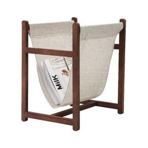 Odkladací stojan na časopisy Linen Natural, šírka 40 cm