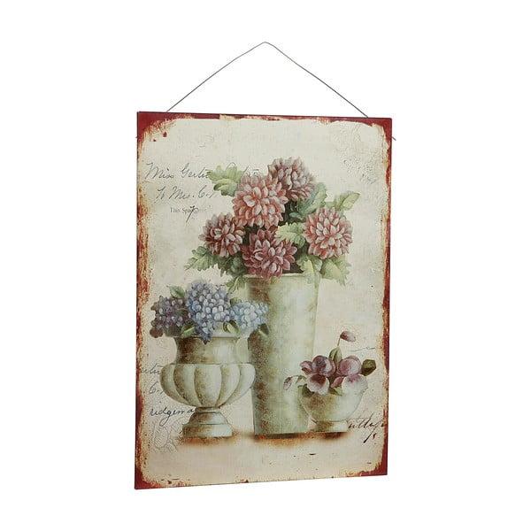 Plechový obraz Antique Flores