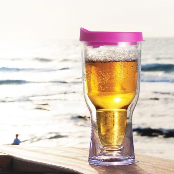 Nezničitelný pohár na pivo Brew2Go, ružová