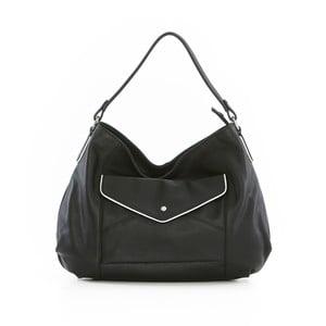 Čierna kožená kabelka Gianni Conti Regina