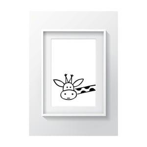 Nástenný obraz OYO Kids BW Giraffe, 24 x 29 cm