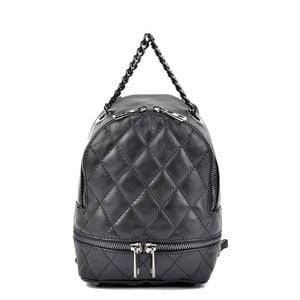 Čierny kožený batoh Roberta M Alisso Nero