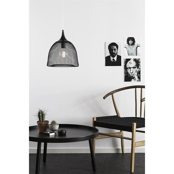 Čierne závesné svetlo Markslöjd Grid, 33cm