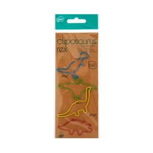 Sada 4 dekoratívnych spôn na papier npw™ Clipanasaurus