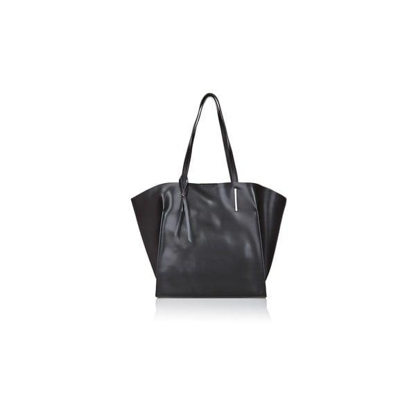 Čierna kožená kabelka Giorgio Costa Mantina