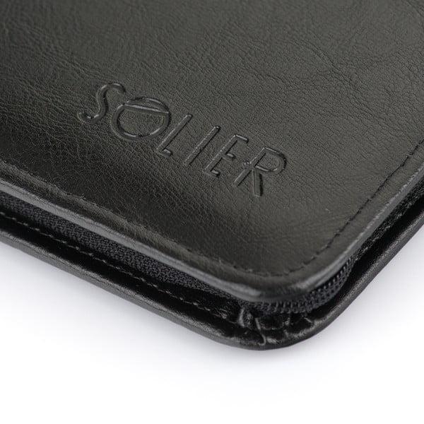 Organizér v doskách Solier ST03, čierna