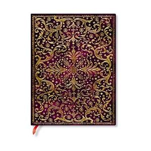 Linajkový zápisník s mäkkou väzbou Paperblanks Aurelia, 18 x 23 cm