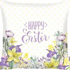 Obliečka na vankúš Apolena Happy Easter Field Flowers, 43×43cm