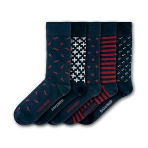 Sada 5 ponožiek Black&Parker London Minterne Gardens, veľkosť 37 – 43