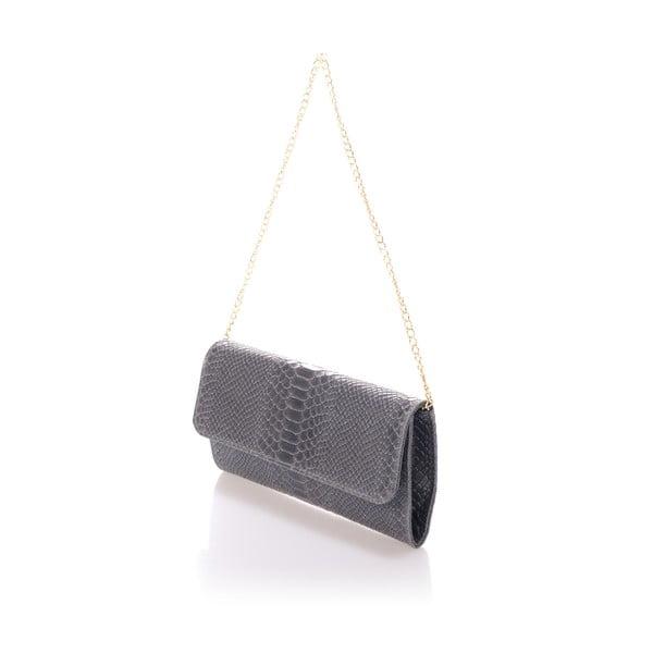 Tmavosivá kožená kabelka Giorgio Costa Clutch