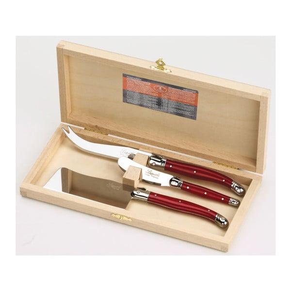 Set 3 nástrojov na syry v drevenom balení Jean Dubost Stainless