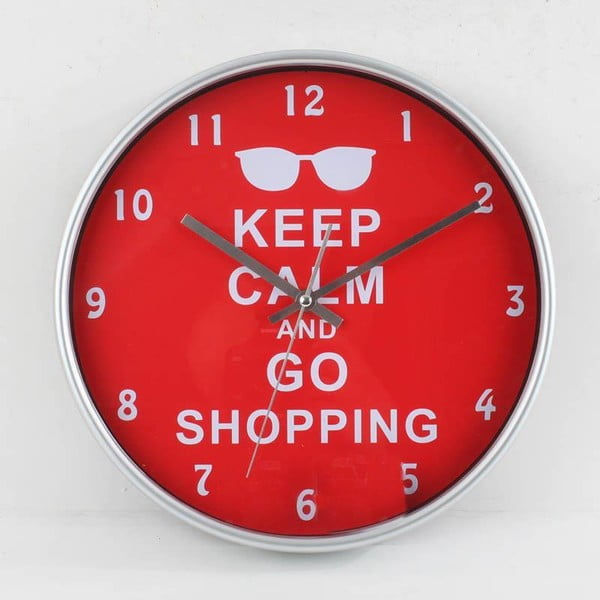 Nástenné hodiny Plastic Red